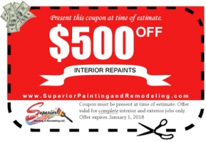 Interior Repaints Coupon